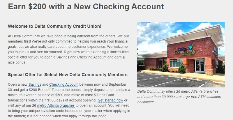 Delta Community Credit Union Promotion