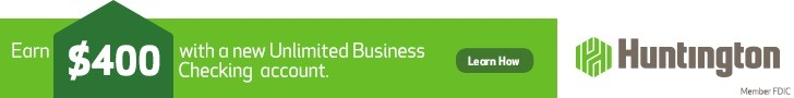 Huntington Unlimited Business Checking bonus