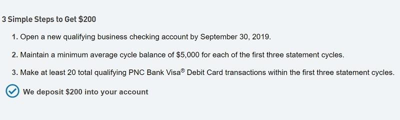 PNC Bank Promotions September 2019: $50, $200, $300, $500