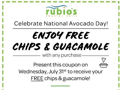 Rubio's Free Chips & Guac