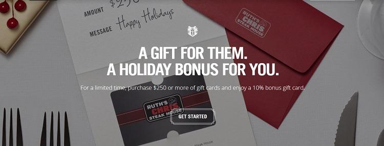 10% Bonus Card w/ $250+ Gift Card Purchase