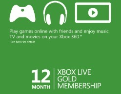 Xbox Live Gold 12 Months Microsoft Promo, 22500 Points