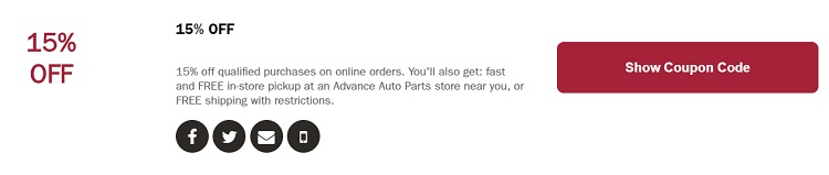 Advance Auto In Store Coupons >> Advance Auto Parts Coupon Codes Promotions Discounts Sales Deals