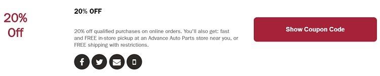 Advance Auto Parts Promotions