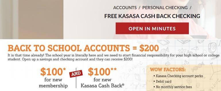 Allegius Credit Union $200 Student Checking Bonus September