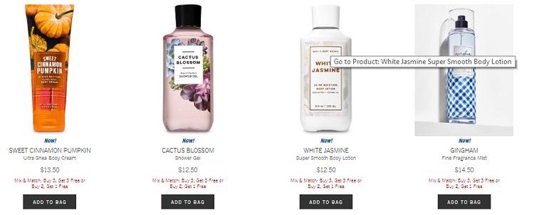 Bath & Body Buy 3 Get 3