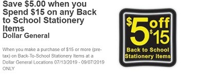 Dollar General Coupons, Discount Promo Codes August 2019
