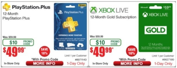 Fry's PS X Box GC Promotion