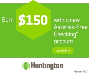 Huntington Asterisk Free Checking account