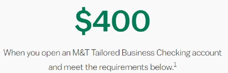 M&T Bank Promotions September 2019: $150, $250, $400