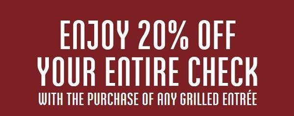 Carrabba's Gril Twenty Percent Promo