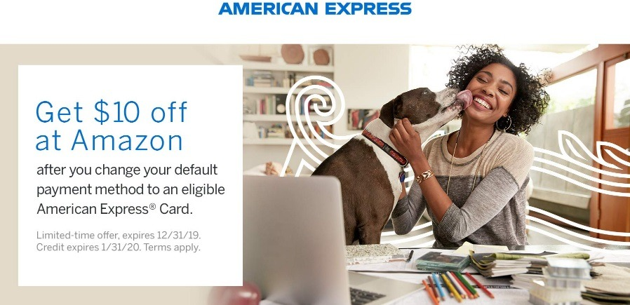 Get $10 Credit w/ American Express Card