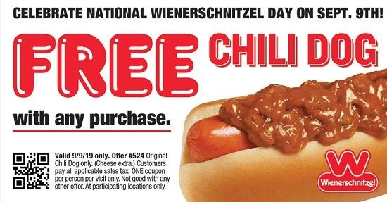 Wiernerschnitzel Free Chili Dog Promotion