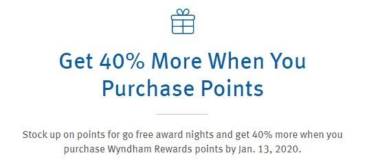 Wyndham Points 40 Promotion