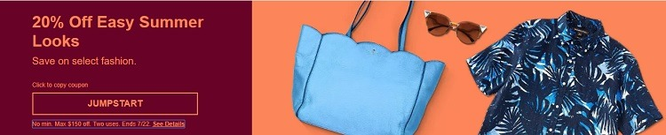 eBay Summer Fashion Promotion, 20 % Off