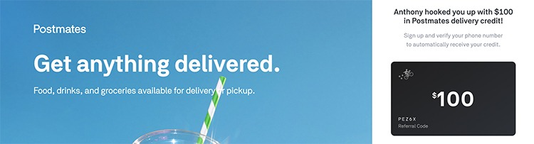 Postmates Promotions, Coupons, Discount Promo Codes