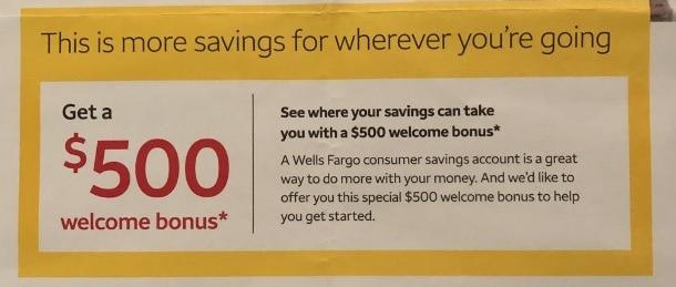 Wells Fargo Promotions September 2019: $200, $300, $400