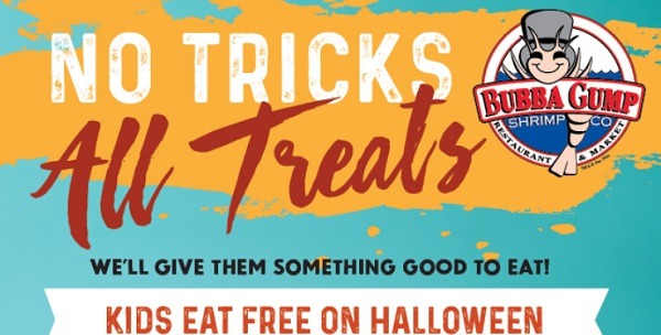 Bubba Gump Kids Eat Free On Halloween Promotion