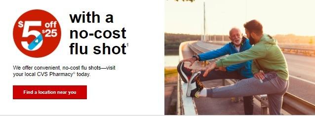 CVS No Cost Flu Shot Promotion