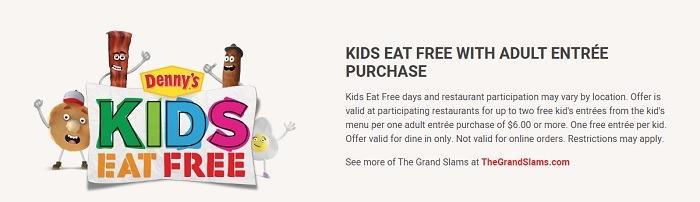 Denny's Kids Eat Free Promotion