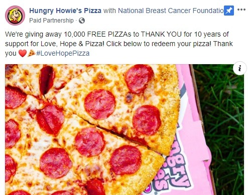 Hungry Howie's Pizza Promotion