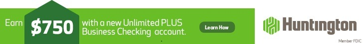 Huntington Unlimited Plus Business Checking Coupon