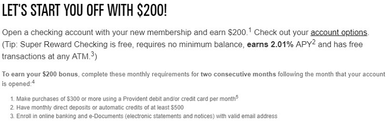 Provident Credit Union Promotions