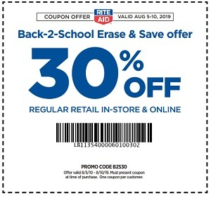 RiteAid 30 Percent Promo