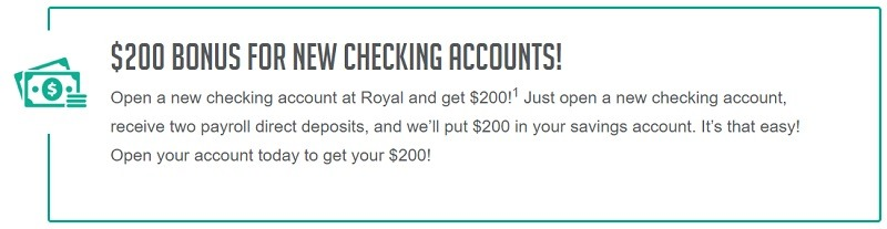 Royal Credit Union Promotions