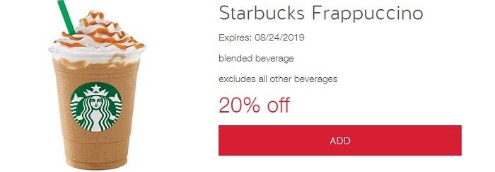 Starbucks Frappacuino offer w Target
