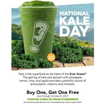 Juice It Up BOGO Kale Promotion