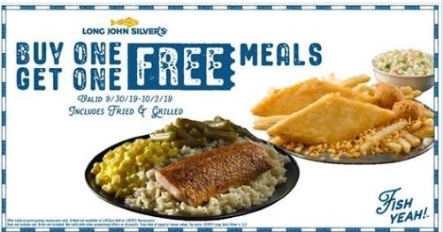 Long John Silver BOGO Fish Meal Promotion