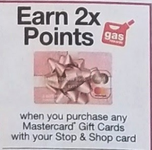 Earn 2X Fuel Points on Mastercard Gift Cards