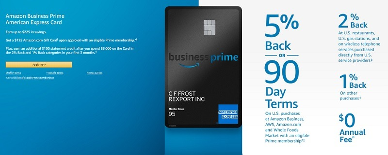 amazon business prime american express credit card