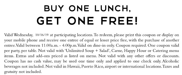 BOGO Lunch