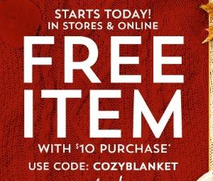 Bath & Body Free Item Promotion