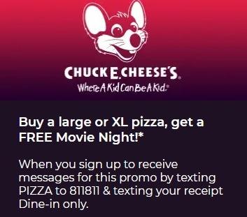 Redbox Chuck E Cheese's Promotion