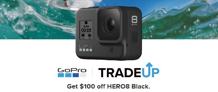$100 Off HERO8 Black w/ Any GoPro or Digital Camera Trade In