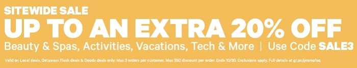Extra 20% Off Sitewide Sale