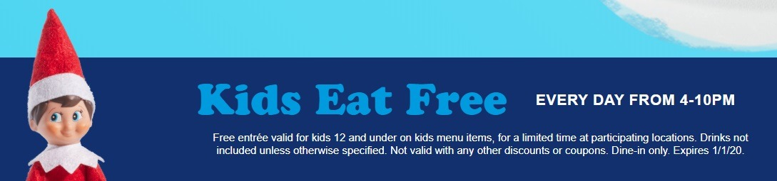 Kids Eat Free Everyday 4-10PM