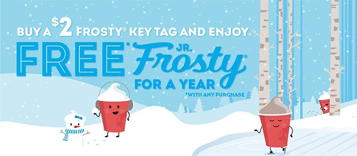 Free Jr. Frosty Through 2020 w/ $2 Frosty Key Tag Purchase