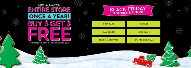 Bath & Body Works Buy 3 Get 3 Free Mix & Match