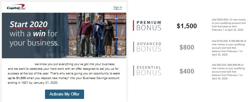 Capital One Business Savings