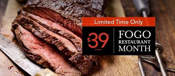 Fogo De Chow 39 Dinner Deal