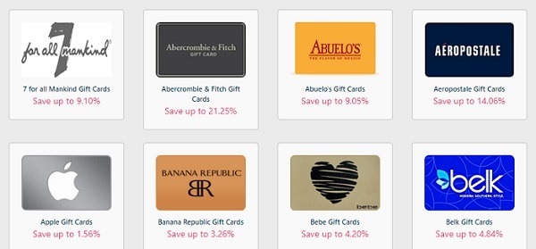 Gift Card Spread Sitewide Promotion