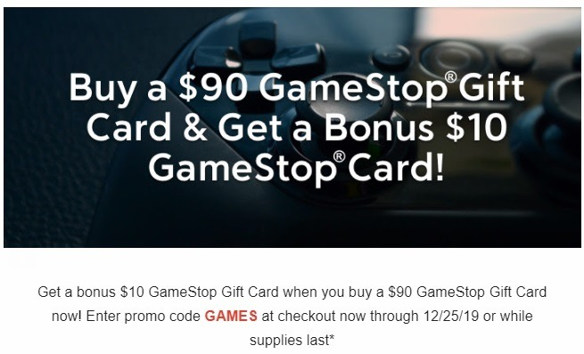 $100 Game Stop Gift Card for $90