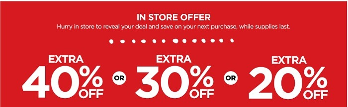 JC Penny Mystery Coupon Promotion