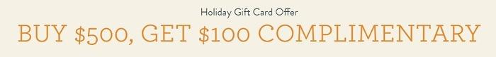 Get $100 Bonus w/ $500 Gift Card Purchase