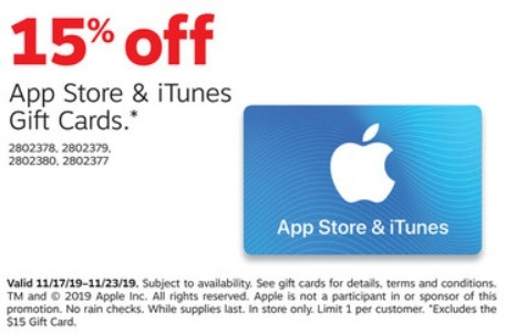 Save 15% On iTunes Gift Cards