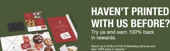 Staples Printing Bonus Promotion